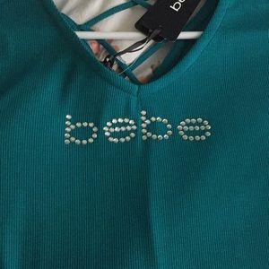 bebe Tops - NEW Bebe Logo Top